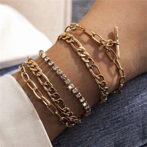 Gouden 5 delige armband.