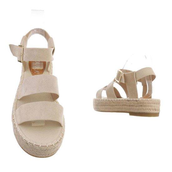 Beige platform sandaal Faysa.