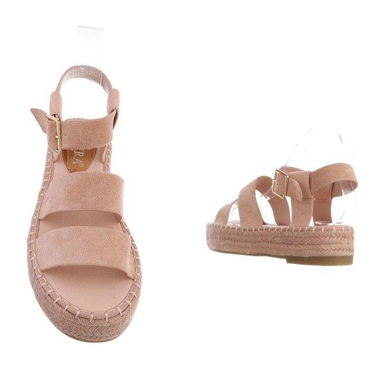 Rose platform sandaal Faysa.