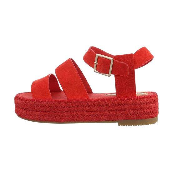 Rode platform sandaal Faysa.