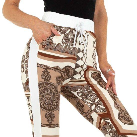 Beige mix legging met barok motief.