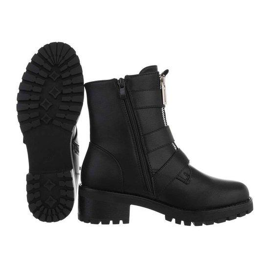 Trendy zwarte boot Vincy.