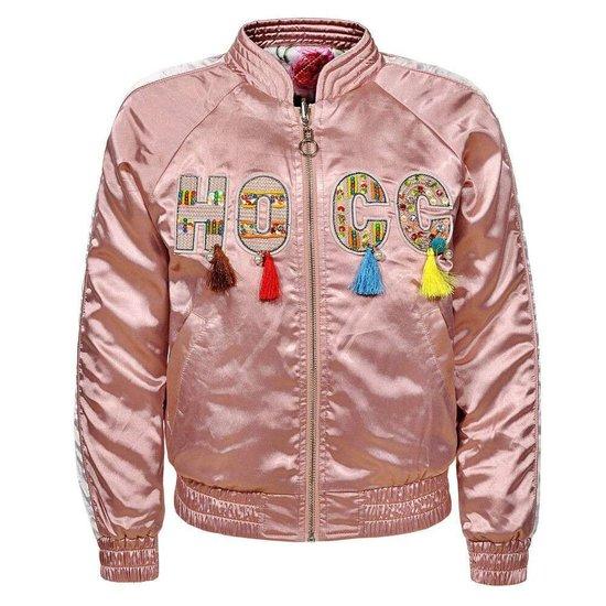 Rose metalic omkeerbare gemoltoneerde meisjes jas.