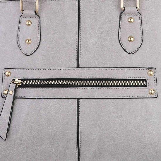 Klassieke grijze trapezoid schoudertas.