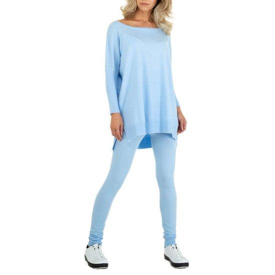 Cozy blauwe loungewear.