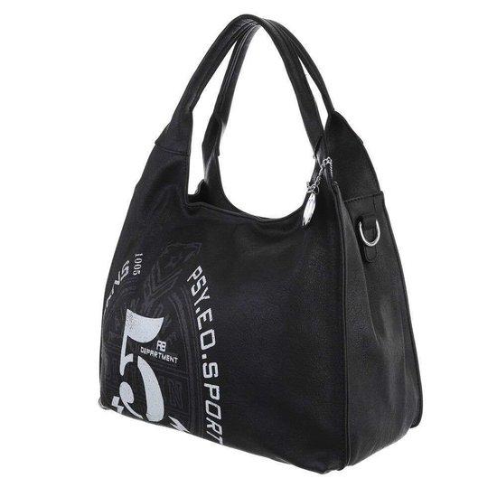 Middelgrote zwarte shopperbag.