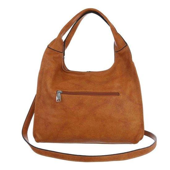 Middelgrote bruine shopperbag.
