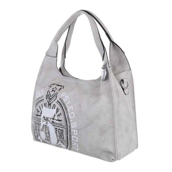 Middelgrote grijze shopperbag.