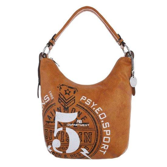 Kleine bruine shopperbag.SOLD OUT