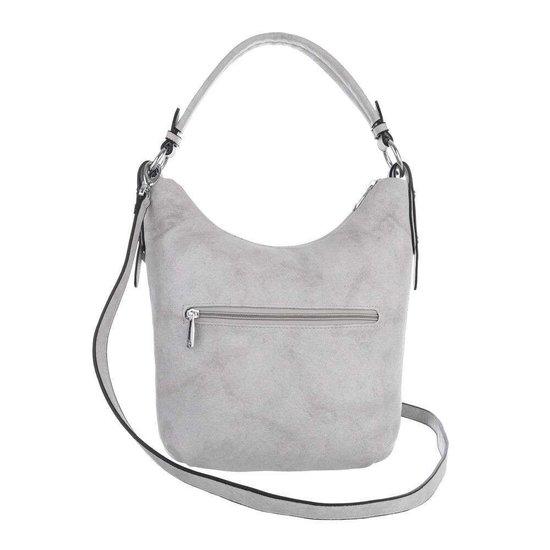 Kleine grijze shopperbag.