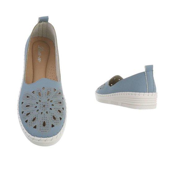 Blauwe loafer Sylke.