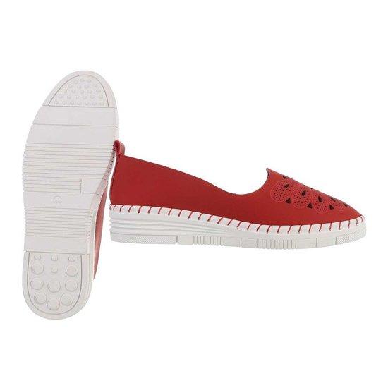 Rode loafer Sylke.
