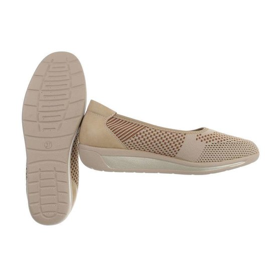 Beige textiel loafer Perry.