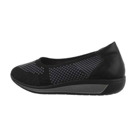 Zwarte textiel loafer Perry.