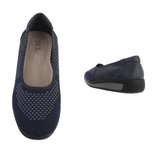 Blauwe textiel loafer Perry.