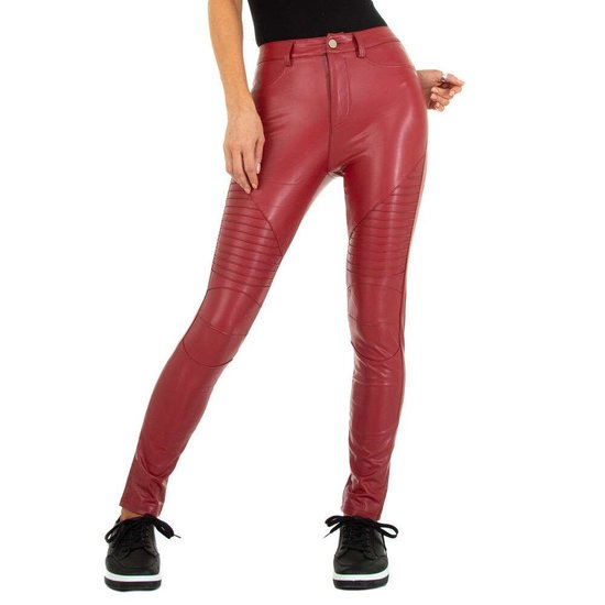 Fashion steenrode thermo leatherlook broek.