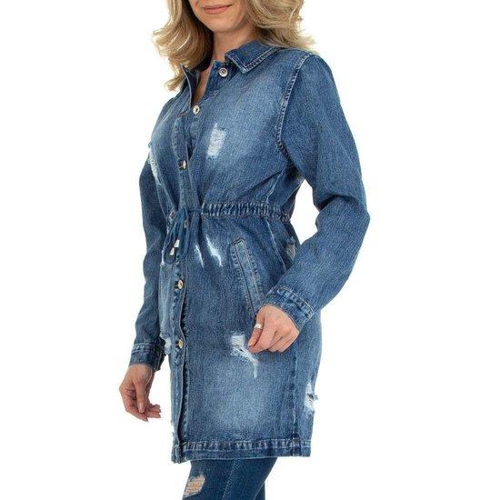 Trendy midi destoyed jeans jas.