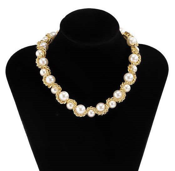 Mixed halsketting met parels.