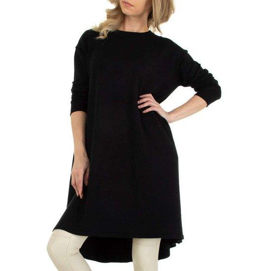 Oversized zwarte truijurk.