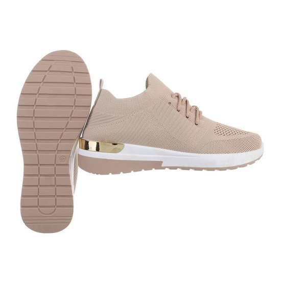 Trendy lage kaki sock sneaker Pepa.