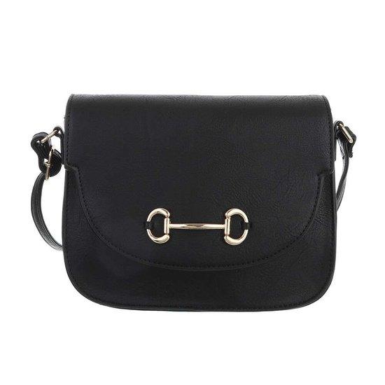 Casual kleine zwarte schoudertas.