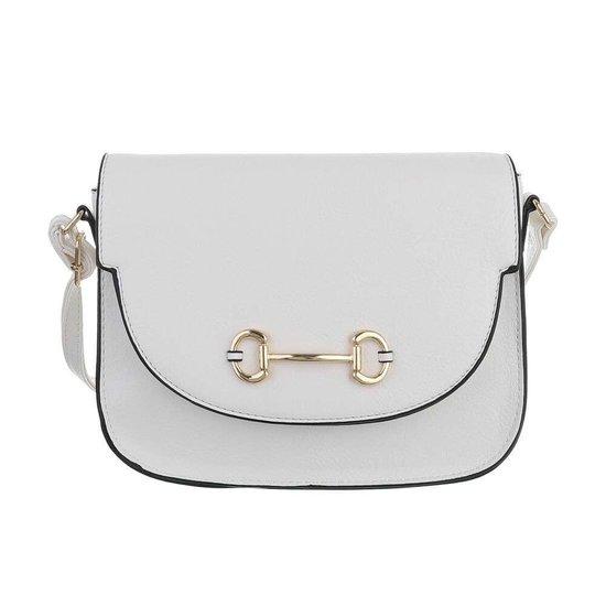 Casual kleine witte schoudertas.