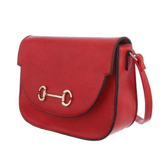 Casual kleine rode schoudertas.