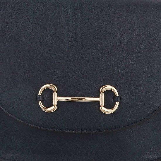 Casual kleine blauwe schoudertas.