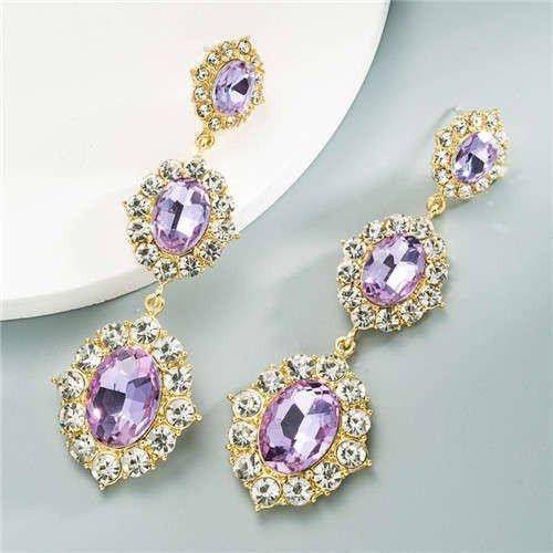 Vintage tripple violet oorbellen.