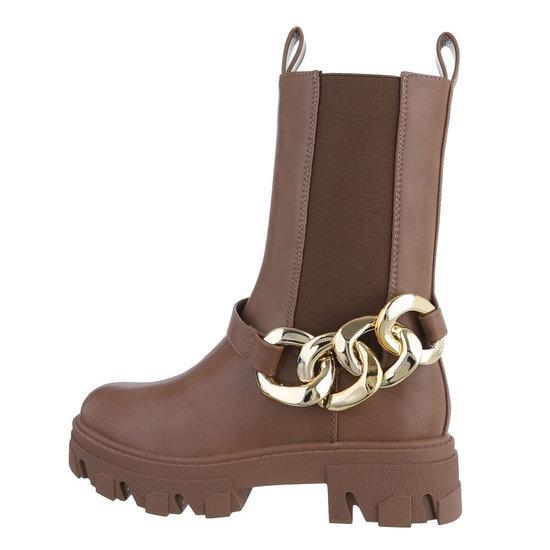 Chelsea boot taupe Lalia.