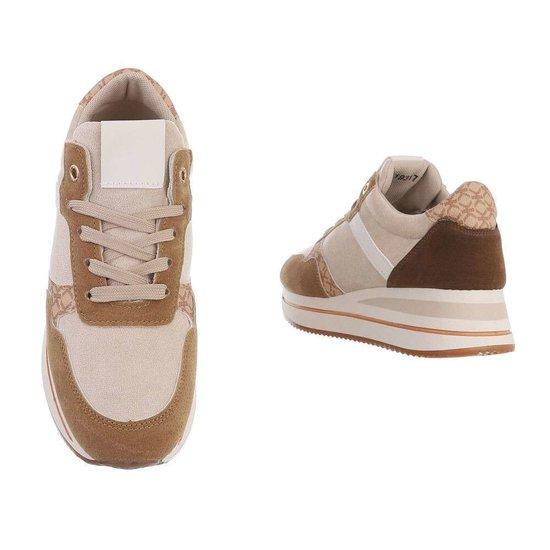 Beige fashion lage sneaker Fonda.