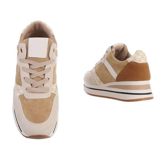 Bruine fashion lage sneaker Fonda.