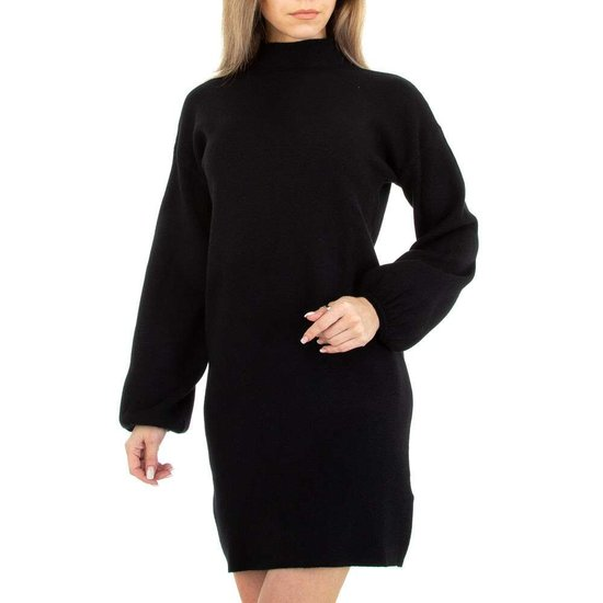 Zwarte blouse truijurk.