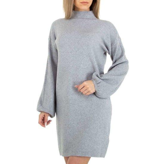 Grijze blouse truijurk.