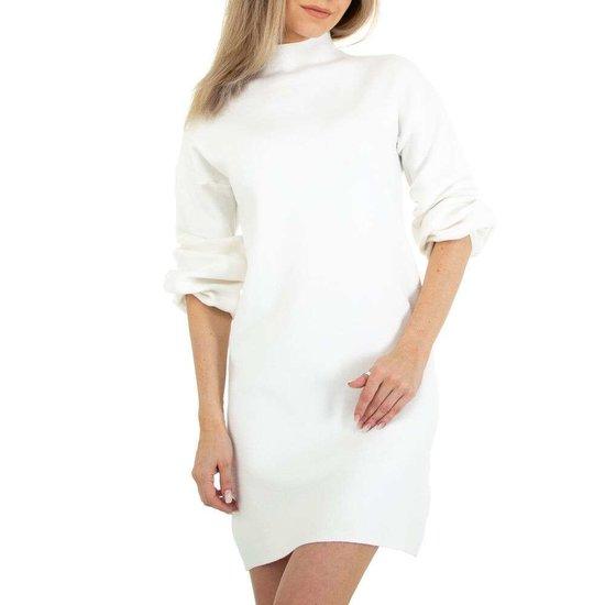 Witte blouse truijurk.