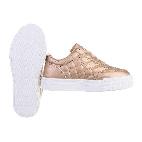 Lage gouden sneaker Paloma.
