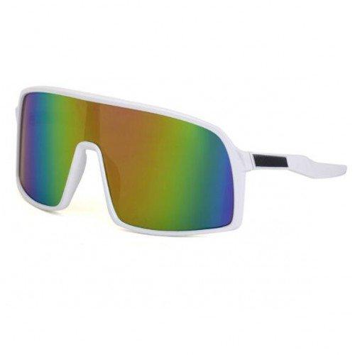 Fashion witte ski-cycling zonnebril.