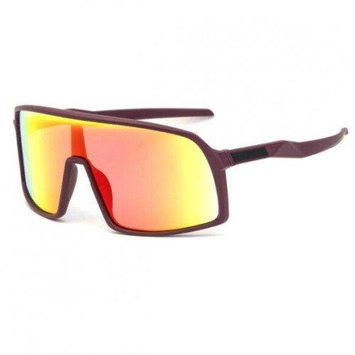 Fashion bruine ski-cycling zonnebril.