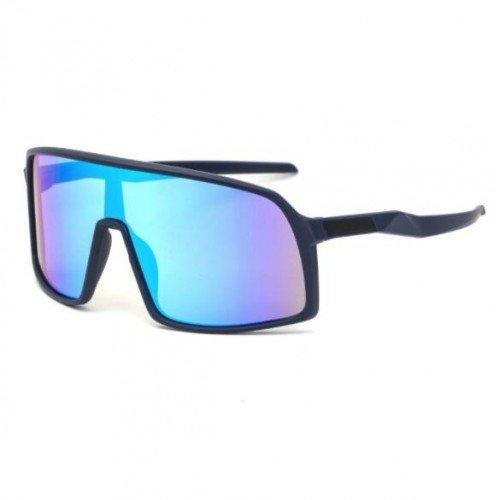 Fashion zwarte ski-cycling zonnebril.