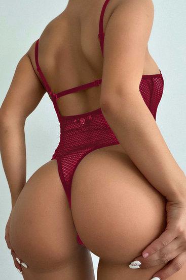 Rode mesh bodysuit.