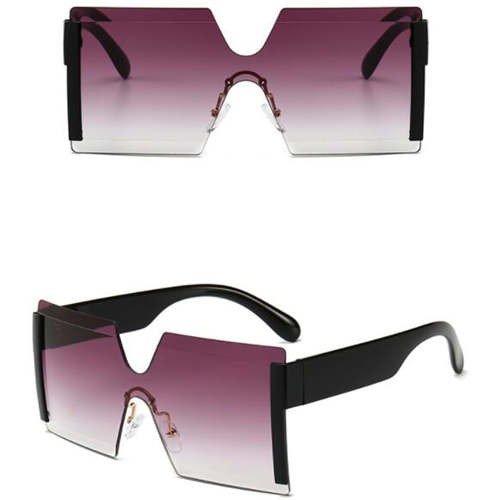 Fashion zwart-grijze frameless zonnebril.