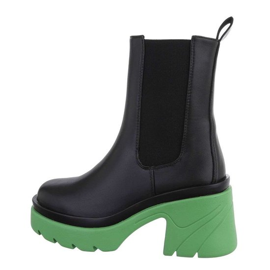 Zwart-groene Chelsea boot Rosalind