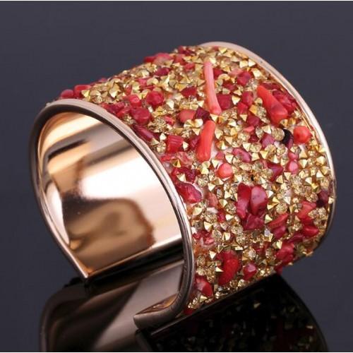 Armband met kleurvolle stenen