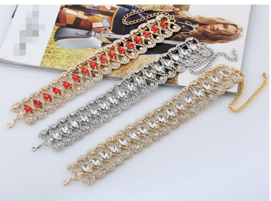 Fashion choker halsketting 3 laags.