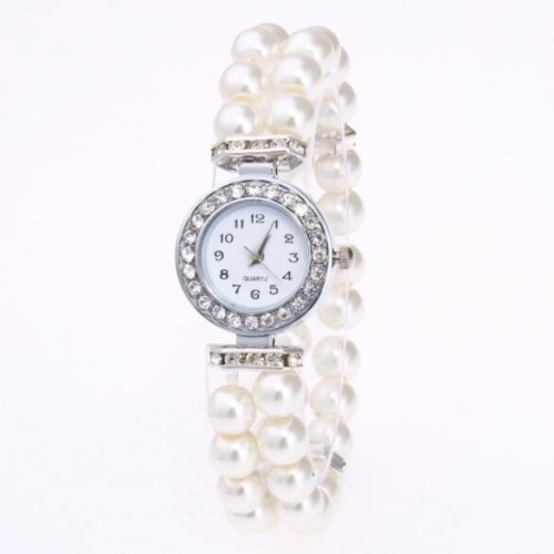 Elegante dames horloge met parels.