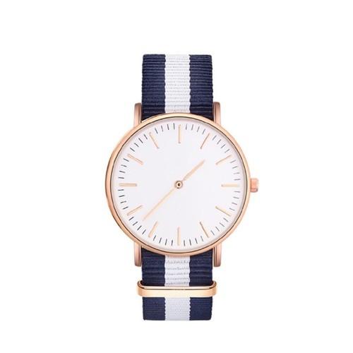 trendy dames horloge met canvas band.