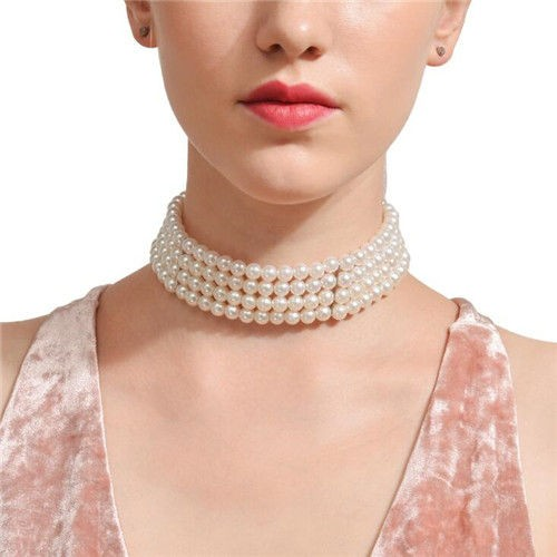 Elegante choker van parels.SOLD OUT