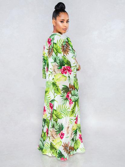 Ensemble badpak floral + badjas