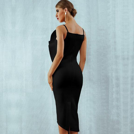 Elegante boutique fitted 3/4 dress