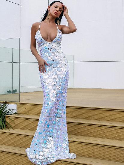 Boutique v-neck maxi jurk
